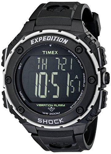 タイメックス 腕時計 メンズ 【送料無料】Timex Expedition Shock Xl Vibrating Digital Dial Black Resin Mens Watch T49950タイメックス 腕時計 メンズ