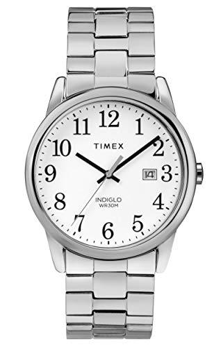 タイメックス 腕時計 メンズ Timex Men's Easy Reader White Dial on a Stainless Steel Bracelet Watch TW2R58400タイメックス 腕時計 メンズ