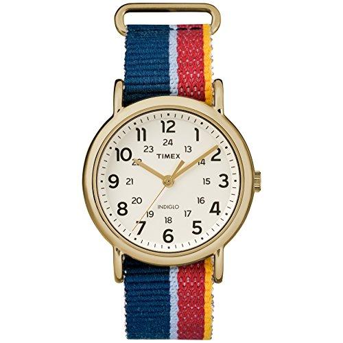 タイメックス 腕時計 メンズ 【送料無料】Timex Unisex TW2R10100 Weekender Multicolor Denim Slip-Thru Strap Watchタイメックス 腕時計 メンズ