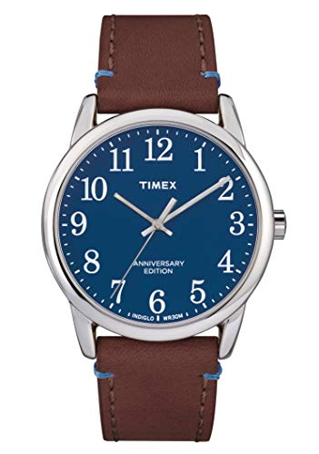 タイメックス 腕時計 メンズ 【送料無料】Timex Easy Reader Blue Dial Leather Strap Men's Watch TW2R36000タイメックス 腕時計 メンズ