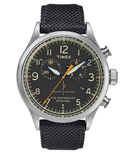 タイメックス 腕時計 メンズ 【送料無料】Timex Waterbury Black Dial Canvas Strap Men's Watch TW2R38200タイメックス 腕時計 メンズ