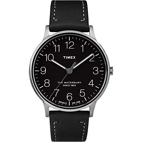 タイメックス 腕時計 メンズ 【送料無料】Timex Waterbury Classic Black Dial Stainless Steel Men's Watch TW2R25500タイメックス 腕時計 メンズ