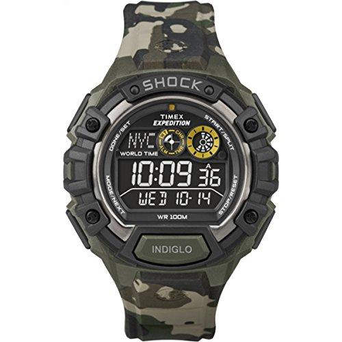 タイメックス 腕時計 メンズ Timex Expedition Global Shock Watch w/Negative Display - Camoタイメックス 腕時計 メンズ