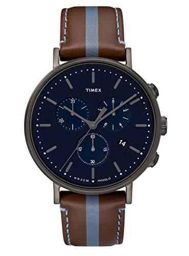 タイメックス 腕時計 メンズ Timex Mens Chronograph Quartz Watch with Leather Strap TW2R37700タイメックス 腕時計 メンズ