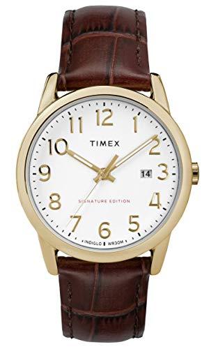 腕時計 タイメックス メンズ 【送料無料】Timex Mens Analogue Classic Quartz Watch with Leather Strap TW2R65100腕時計 タイメックス メンズ