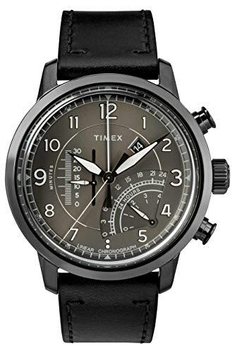 タイメックス 腕時計 メンズ Timex Waterbury Grey Dial Leather Strap Men's Watch TW2R69000タイメックス 腕時計 メンズ