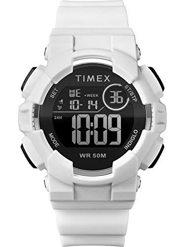 タイメックス 腕時計 レディース Timex Unisex TW5M23700 DGTL 44mm White/Black/Negative Silicone Strap Watchタイメックス 腕時計 レディース