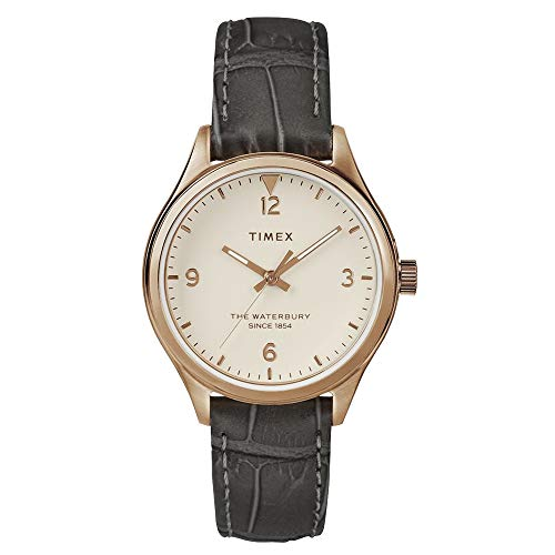タイメックス 腕時計 レディース Timex Women's Waterbury Traditional 3-Hand Grey/Rose Gold/Cream One Sizeタイメックス 腕時計 レディース