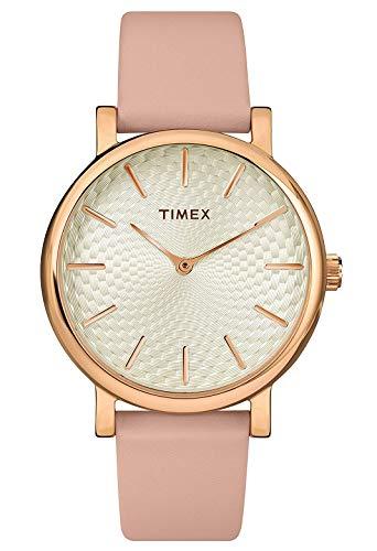 タイメックス 腕時計 レディース Timex Womens Analogue Classic Quartz Watch with Leather Strap TW2R85200タイメックス 腕時計 レディース