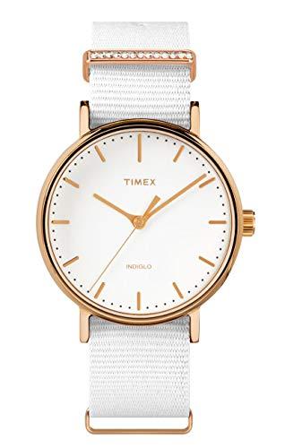 タイメックス 腕時計 レディース Timex Fairfield Crystal Bar White Dial Canvas Strap Ladies Watch TW2R49100タイメックス 腕時計 レディース
