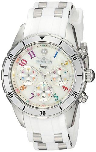 インヴィクタ インビクタ 腕時計 レディース Invicta Women's Angel Stainless Steel Quartz Watch with Silicone Strap, White, 20 (Model: 24903)インヴィクタ インビクタ 腕時計 レディース