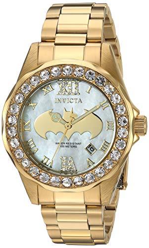 インヴィクタ インビクタ 腕時計 レディース Invicta Women's DC Comics Quartz Watch with Stainless-Steel Strap, Gold, 17 (Model: 29304)インヴィクタ インビクタ 腕時計 レディース