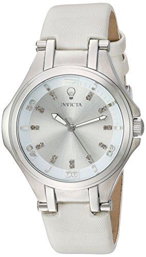 インヴィクタ インビクタ 腕時計 レディース Invicta Women's Gabrielle Union Stainless Steel Quartz Watch with Leather-Calfskin Strap, White, 18 (Model: 23250)インヴィクタ インビクタ 腕時計 レディース