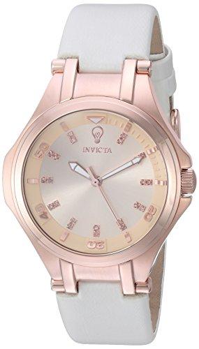 インヴィクタ インビクタ 腕時計 レディース Invicta Women's Gabrielle Union Stainless Steel Quartz Watch with Leather Calfskin Strap, White, 18 (Model: 23252)インヴィクタ インビクタ 腕時計 レディース