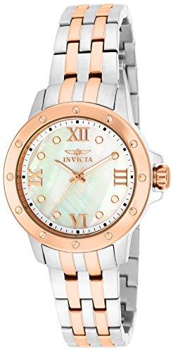 インヴィクタ インビクタ 腕時計 レディース Invicta Women's Angel Quartz Mother-of-Pearl Dial Stainless Watch 15366インヴィクタ インビクタ 腕時計 レディース