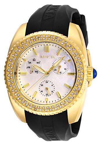 """インヴィクタ インビクタ 腕時計 レディース 【送料無料】Invicta Women""""s Angel Stainless Steel Quartz Watch with Silicone Strap, Black, 20 (Model: 28489)インヴィクタ インビクタ 腕時計 レディース"""