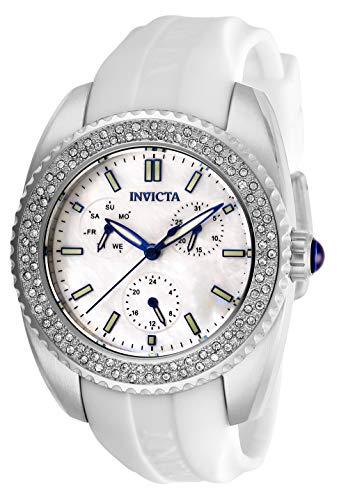インヴィクタ インビクタ 腕時計 レディース 【送料無料】Invicta Women's Angel Stainless Steel Quartz Watch with Silicone Strap, White, 20 (Model: 28486)インヴィクタ インビクタ 腕時計 レディース