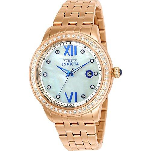 インヴィクタ インビクタ 腕時計 レディース Invicta 23663 Women's Angel Crystal Accented Bezel MOP Dial Rose Gold Steel Bracelet Watchインヴィクタ インビクタ 腕時計 レディース