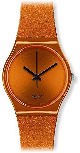 スウォッチ 腕時計 レディース 【送料無料】Swatch GO111 Women's Originals Deep Orange Dial Silicone Watchスウォッチ 腕時計 レディース