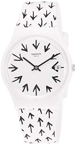 スウォッチ 腕時計 レディース 【送料無料】Swatch Frechia White/Black Ladies Watch GW409スウォッチ 腕時計 レディース