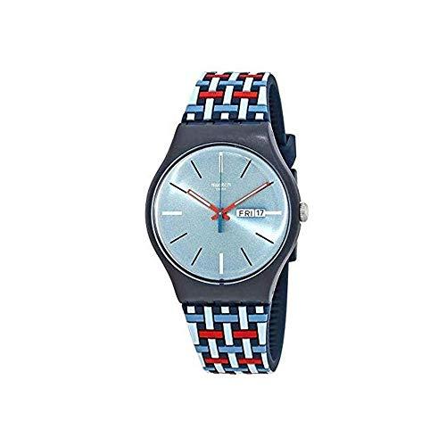 スウォッチ 腕時計 メンズ 【送料無料】Swatch Wovering Grey Dial Mens Watch SUON710スウォッチ 腕時計 メンズ