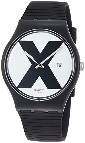スウォッチ 腕時計 メンズ Swatch XX-Rated Black White Dial Men's Watch SUOB402スウォッチ 腕時計 メンズ