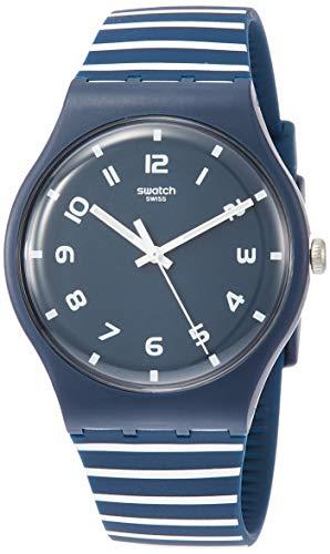 スウォッチ 腕時計 メンズ Swatch Striure SUON130 Blue Silicone Quartz Fashion Watchスウォッチ 腕時計 メンズ