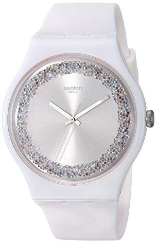 スウォッチ 腕時計 メンズ 【送料無料】Swatch 1809 Think Fun Quartz Silicone Strap, Pink, 19 Casual Watch (Model: SUOP110)スウォッチ 腕時計 メンズ