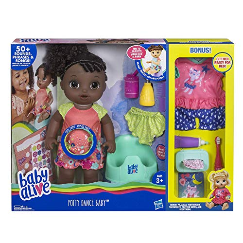 ベビーアライブ 赤ちゃん おままごと ベビー人形 Baby Alive Exclusive Potty Dance Value Pack (Black Curly Hair)ベビーアライブ 赤ちゃん おままごと ベビー人形