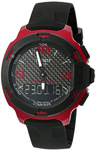 ティソ 腕時計 メンズ 【送料無料】Tissot Men's 'T racing' Swiss Quartz Metal and Silicone Dress Watch, Color:Black (Model: T0814209720700)ティソ 腕時計 メンズ