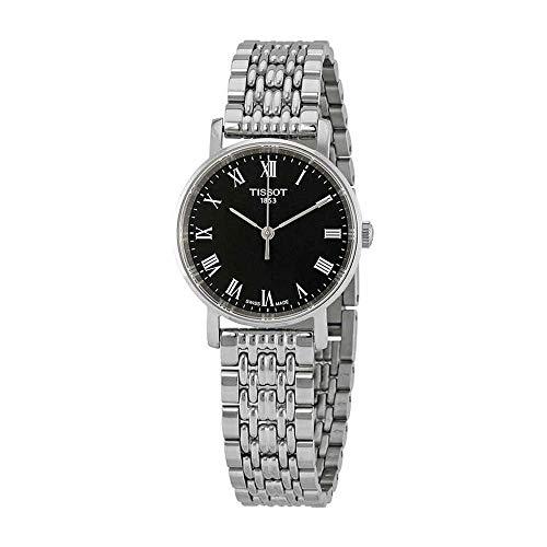 ティソ 腕時計 レディース 【送料無料】Tissot Everytime Lady Stainless Steel Black Dial Watch T109.210.11.053.00ティソ 腕時計 レディース