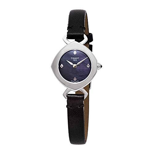 ティソ 腕時計 レディース Tissot Femini-T Mother of Pearl Dial Ladies Black Leather Watch T113.109.16.126.00ティソ 腕時計 レディース