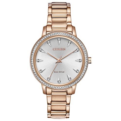 シチズン 逆輸入 海外モデル 海外限定 アメリカ直輸入 Citizen Watches Women's FE7043-55A Silhouette Crystal Rose Gold Tone One Sizeシチズン 逆輸入 海外モデル 海外限定 アメリカ直輸入