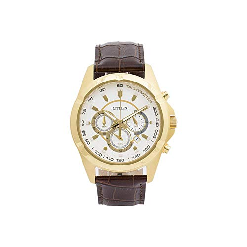 シチズン 逆輸入 海外モデル 海外限定 アメリカ直輸入 Men's Citizen Chronograph Leather Band Watch AN8043-05Aシチズン 逆輸入 海外モデル 海外限定 アメリカ直輸入