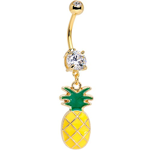 ボディキャンディー ボディピアス アメリカ 日本未発売 ウォレット Body Candy Handcrafted Yellow Anodized Titanium Steel Summer Pineapple Dangle Belly Ringボディキャンディー ボディピアス アメリカ 日本未発売 ウォレット
