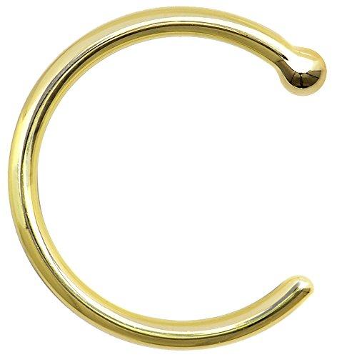 ボディキャンディー ボディピアス アメリカ 日本未発売 ウォレット Body Candy Unisex Adult Solid 18k Yellow Gold Nose Stud Hoop 18 Gauge 5/16