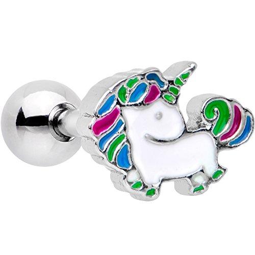 ボディキャンディー ボディピアス アメリカ 日本未発売 ウォレット 【送料無料】Body Candy Steel Rad Rainbow Unicorn Cartilage Tragus Earring 16 Gauge 1/4