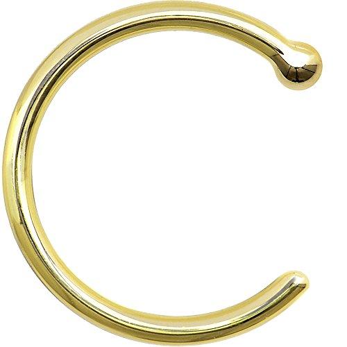 ボディキャンディー ボディピアス アメリカ 日本未発売 ウォレット Body Candy Unisex Adult Solid 14k Yellow Gold Nose Stud Hoop 3/8