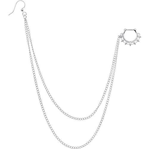 ボディキャンディー ボディピアス アメリカ 日本未発売 ウォレット Body Candy Handcrafted Steel Tribal Lace Septum Clicker to Ear Chain 16 Gauge 1/4