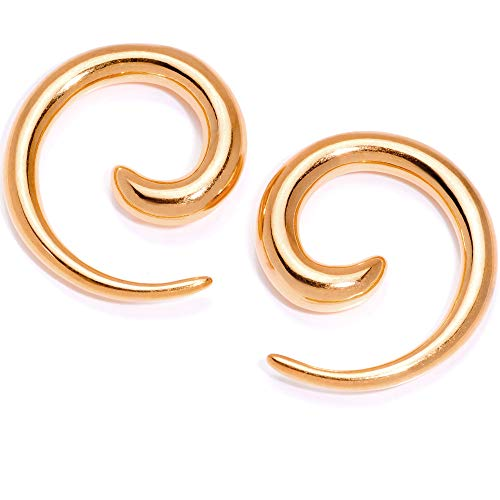 ボディキャンディー ボディピアス アメリカ 日本未発売 ウォレット 【送料無料】Body Candy Rose Gold Tone Anodized Titanium Steel Micro Spiral Taper Set of 2 6 Gaugeボディキャンディー ボディピアス アメリカ 日本未発売 ウォレット
