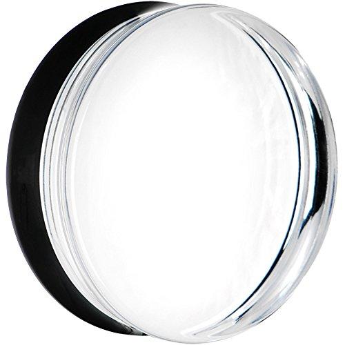 ボディキャンディー ボディピアス アメリカ 日本未発売 ウォレット 【送料無料】Body Candy 44mm Clear Black Acrylic Mirror Split Saddle Ear Gauge Plug (1 Piece)ボディキャンディー ボディピアス アメリカ 日本未発売 ウォレット