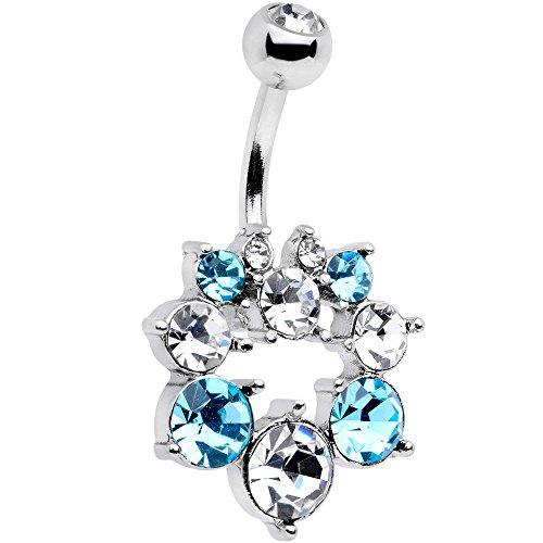 ボディキャンディー ボディピアス アメリカ 日本未発売 ウォレット 【送料無料】Body Candy Womens Stainless Steel Brilliant Blue Clear Heavenly Halo Belly Button Ringボディキャンディー ボディピアス アメリカ 日本未発売 ウォレット