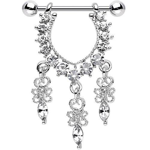 ボディキャンディー ボディピアス アメリカ 日本未発売 ウォレット Body Candy Stainless Steel Clear Radiant Goddess Dangle Nipple Ring Set of 2ボディキャンディー ボディピアス アメリカ 日本未発売 ウォレット