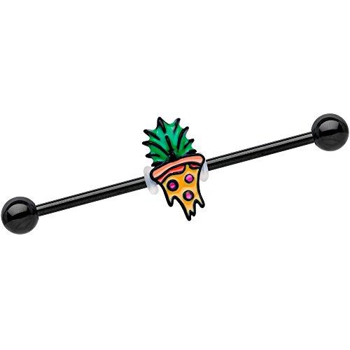 ボディキャンディー ボディピアス アメリカ 日本未発売 ウォレット 【送料無料】Body Candy 38mm Black Anodized Steel Helix Cartilage Earring Pineapple Pizza Industrial Barbellボディキャンディー ボディピアス アメリカ 日本未発売 ウォレット