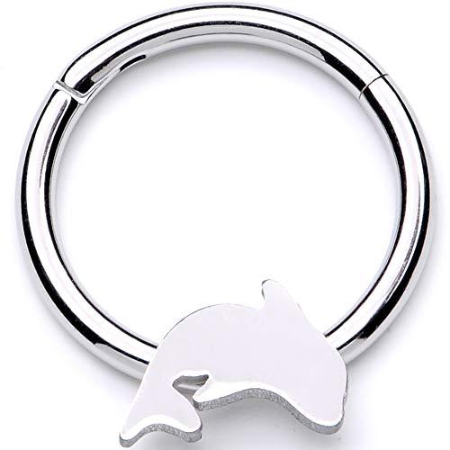 ボディキャンディー ボディピアス アメリカ 日本未発売 ウォレット 【送料無料】Body Candy 16G 316L Steel Hinged Segment Ring Seamless Cartilage Nipple Ring Dolphin Nose Hoops 3/8