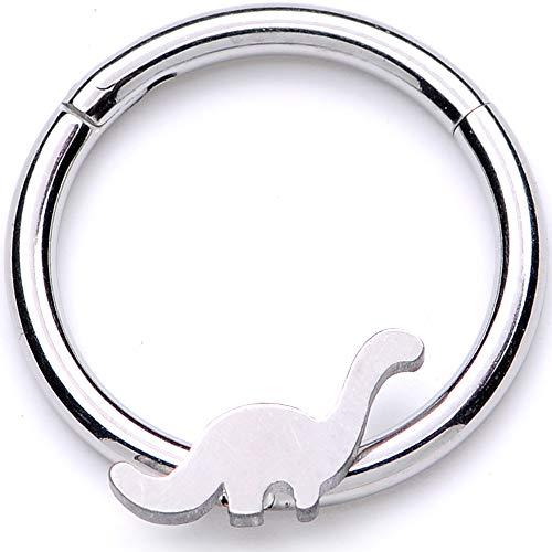 ボディキャンディー ボディピアス アメリカ 日本未発売 ウォレット 【送料無料】Body Candy Unisex 16G Steel Hinged Segment Ring Seamless Cartilage Septum Ring Dinosaur Nose Hoops 3/8