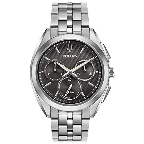 ブローバ 腕時計 メンズ 【送料無料】BULOVA Grey Stainless Steel Watch-96A186ブローバ 腕時計 メンズ