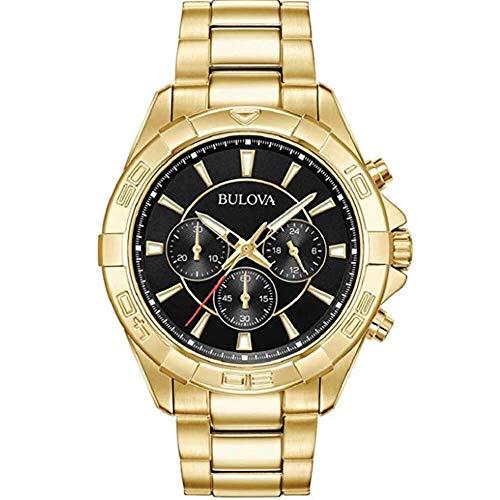 腕時計 ブローバ メンズ 【送料無料】Bulova Classic Gold Tone Chronograph Stainless Steel Mens Watch 97A139腕時計 ブローバ メンズ