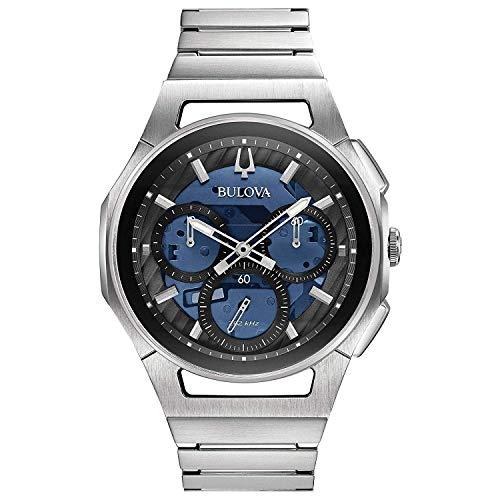 ブローバ 腕時計 メンズ 【送料無料】BULOVA Blue Stainless Steel Watch-96A205ブローバ 腕時計 メンズ