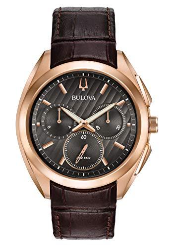 ブローバ 腕時計 メンズ BULOVA Black Leather Watch-97A124ブローバ 腕時計 メンズ